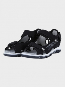 Boys Casual Sports Open Toe Sandals in Black pair side  picture