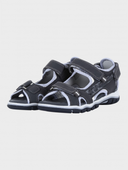 Boys Casual Sports Open Toe Sandals in Grey pair side picture
