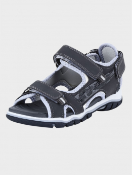 Boys Casual Sports Open Toe Sandals in Grey pair side and front detail picture