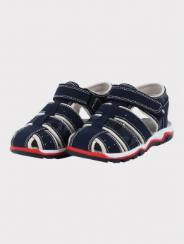 Boys Casual Trekking Sandals in Navy Blue pair side picture