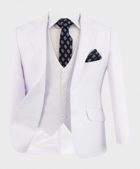 Boys Communion Tailored Fit  jacket, single-breasted waistcoat with accessories open front picture