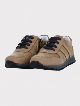 Boys Genuine Leather Casual Shoes in Beige  pair side picture