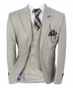 Boys Page Boy Communion Tailored Fit  Jacket with matching waistcoat with accessories front open picture