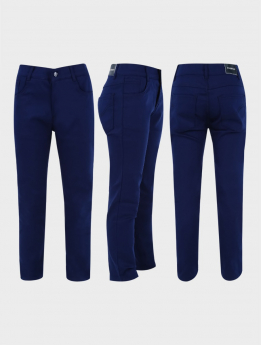 Boys Parliament Blue Casual Stretch Chino Pants three side picture
