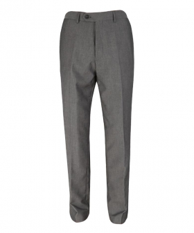 Front view of the Men's Charcoal Grey Slim Fit Formal Business Trousers