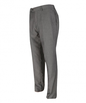 Reight side view of the Men's Charcoal Grey Slim Fit Formal Business Trousers