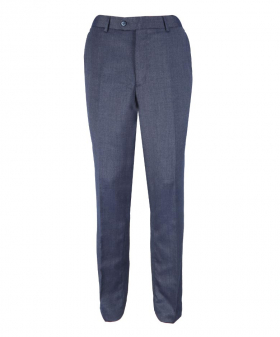Front view of the Men's Steel Blue Slim Fit Smart Trousers