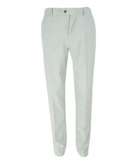 Men's Slim-Fit Formal Trousers in Light Grey front Picture