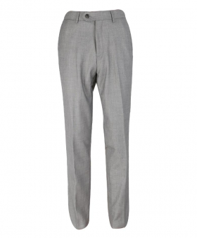 Front view of the  Men's Slim Fit Formal Light Grey Trousers