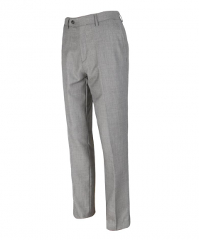 Right side view of the  Men's Slim Fit Formal Light Grey Trousers