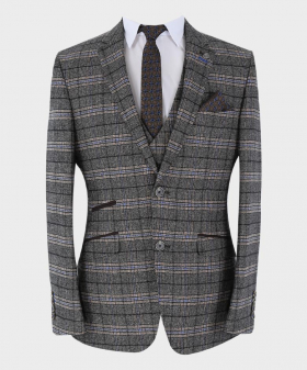 Check Balzer Jacket in Grey front picture