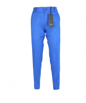 Front view of the Designer Slim Fit Boys Blue Chino Trousers