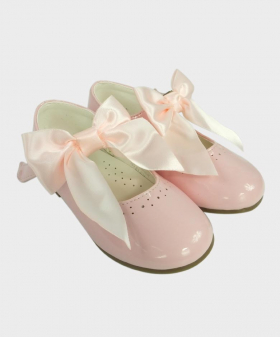 Flower Girls Pink Formal Occasion Wedding Shoes-Pair