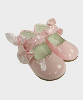 Flower Girls Shoes in Pink  for Party Birthday Wedding