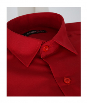 Page Boys Long Sleeve Classic Collar Red Shirt