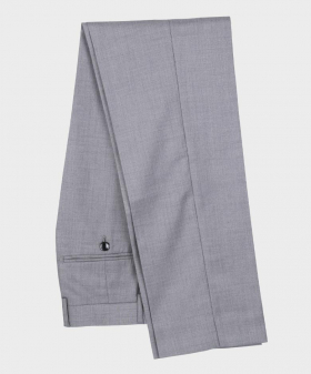 Men Formal Trousers Tailored Fit in Light Grey
