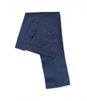 Folded view of the Designer Slim Fit Boys Navy Blue Chino Trousers