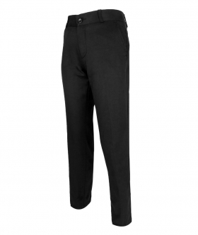 Side view of the Designer Slim Fit Boys Black Chino Trousers