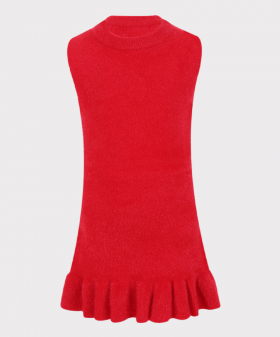 Sleeveless Dress in Red Front Picture